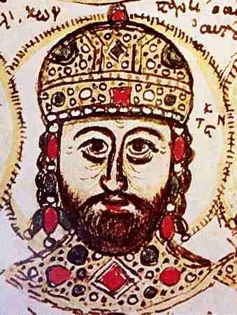 Απεικόνιση του Κωνσταντίνου Παλαιολόγου σε ένα χειρόγραφο του 15ου αι. του Χρονικού του Ζωναρά, που βρίσκεται στη Biblioteca Estense στη Μόντενα.