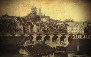 Σπάνιο ουράνιο φαινόμενο πάνω από την Ελβετία, το 1910...