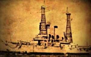 """Το στοιχειωμένο θωρηκτό """"Λήμνος"""" στον Ναύσταθμο της Σαλαμίνας, το 1932…"""