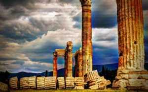 Στύλοι του Ολυμπίου Διός - Πώς κατέρρευσε ο κίονας, το 1852...