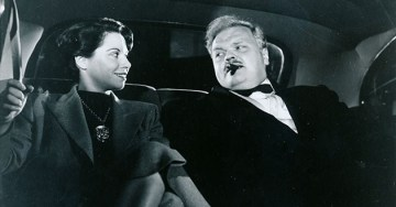 The Daughter of Horror (1955) getting it on with some creepy Orson Welles-looking dude