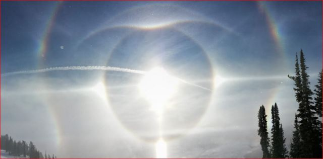 Chemtrail -  Giant Eye Over Wyoming December 3, 2015