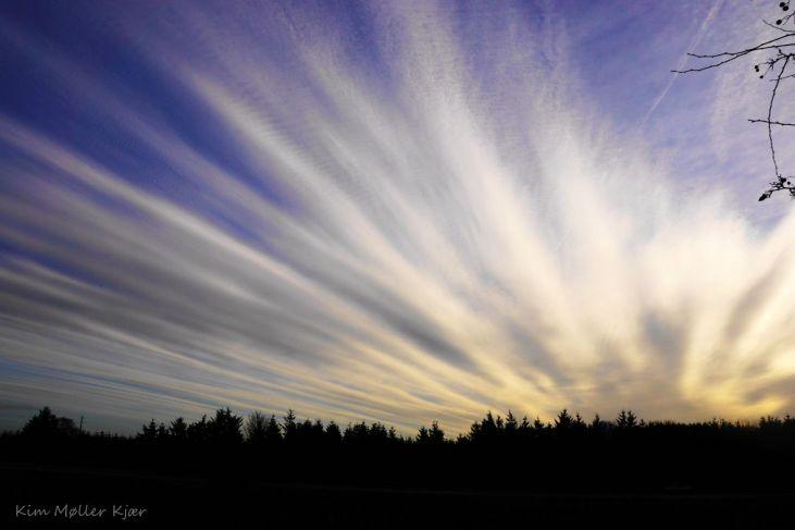 Finger Shaped Clouds over Denmark