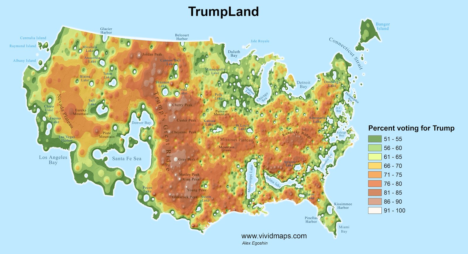 A Physical Map Of Faith In The Usa The Mormons Welcome
