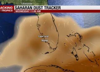 Saharan dust arrives in Southwest Florida, florida sahara dust, florida sahara sand, florida sahara dust august 2018