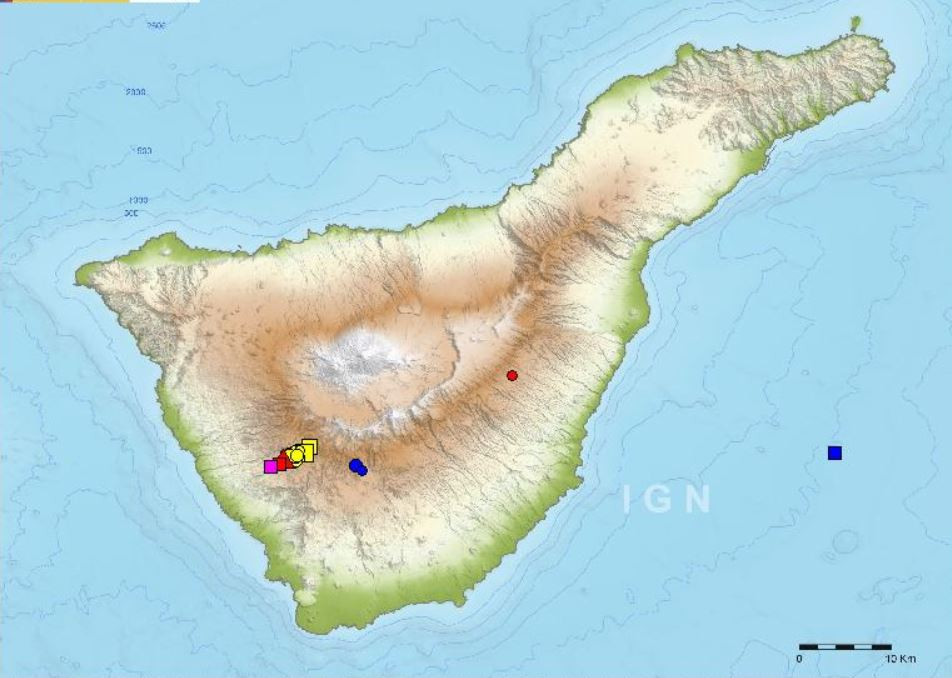 earthquake swarm tenerife, earthquake swarm tenerife canary islands