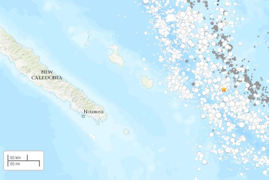 series of strong earthquakes new caledonia, series of strong earthquakes new caledonia may 19 2019, series of strong earthquakes new caledonia map