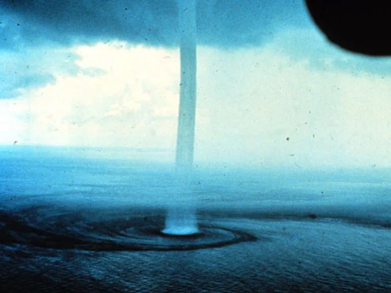 The currently favored explanation for animal precipitation involves waterspouts