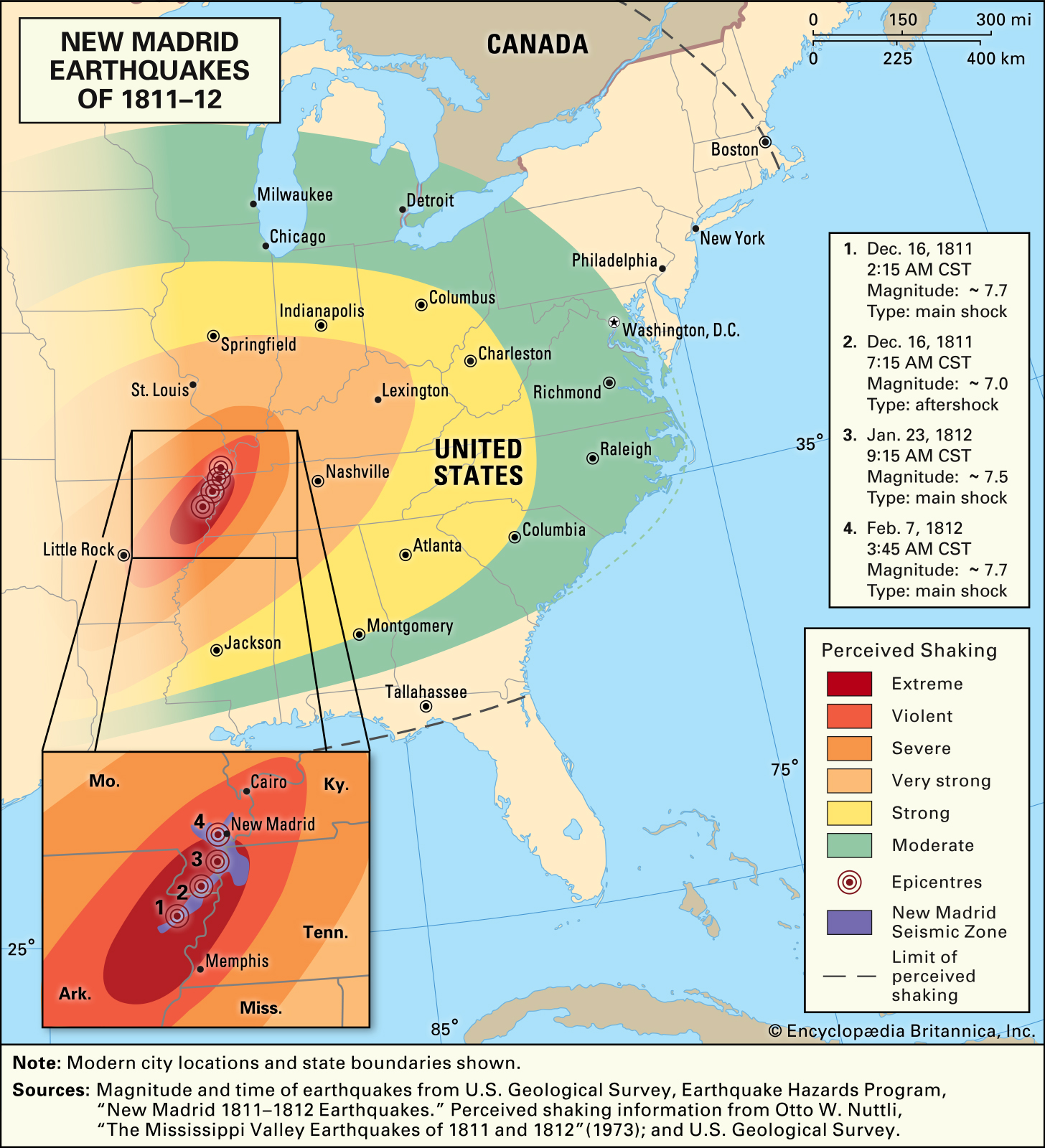 Scary Phenomena That Occurred During The New Madrid