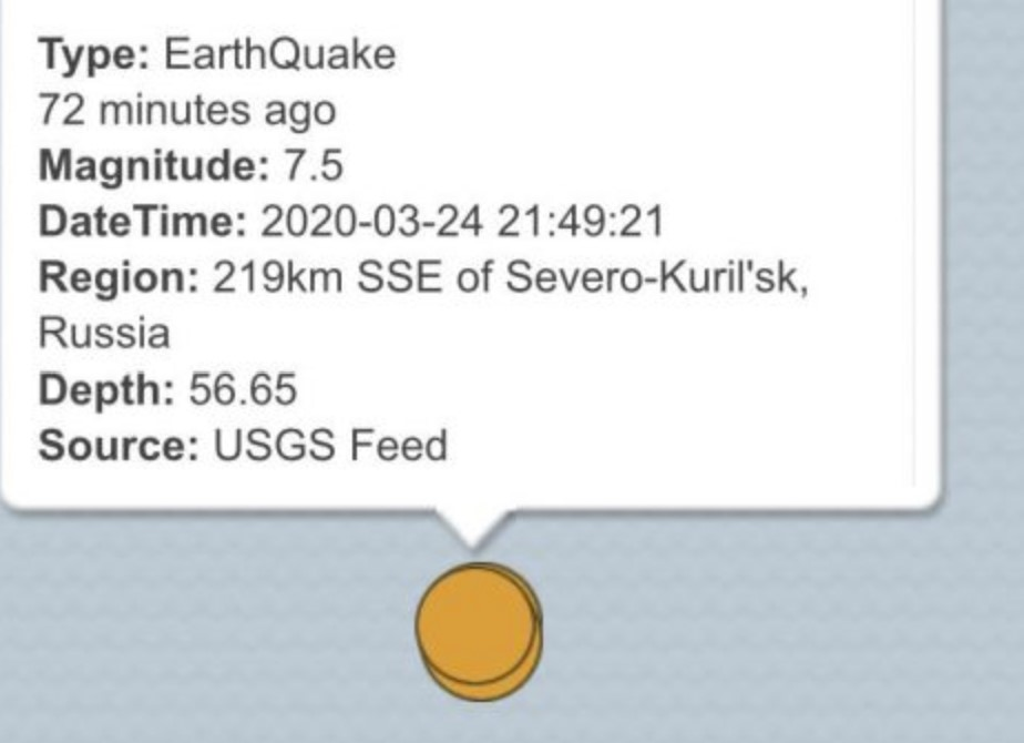 3 M7.5 earthquakes hit the Kuril Islands in Russia on March 25 2020, 3 M7.5 earthquakes hit the Kuril Islands in Russia on March 25 2020 map, 3 M7.5 earthquakes hit the Kuril Islands in Russia on March 25 2020 earthquake map, There isn't just one quake but three on this USGS map