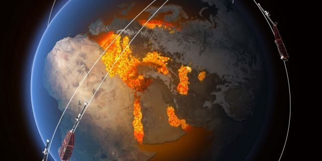 earth magnetic field weakening africa south america, The magnetic field is thought to be generated by an ocean of superheated, swirling liquid iron that makes up Earth's the outer core