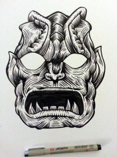GORGON AWAKENS rough inks
