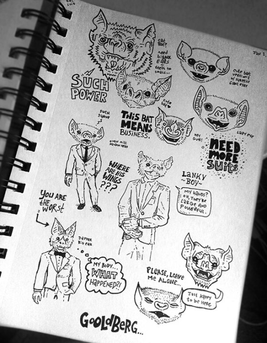 bat sketchbook