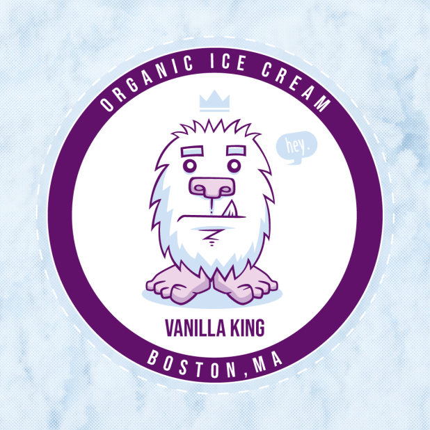 yeti in a snow storm ice cream cover idea