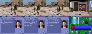 "A screenshot of the player character trying to buy a squirt gun. Guiseppi Mezooalto's diaglogue reads: Sure, I got one. I've had it since I was a little brat. And it's all yours... for a price. Hey c'mon! it's a relic from my childhood. I can't just GIVE it away. So... for $250 and it's yours. Cheap, right? You got the cash... 50... 100... 200... 250! Great. The deluxe Super Drencher water cannon XP is all yours."" The screenshot on the right shows the squirt gun's ui."