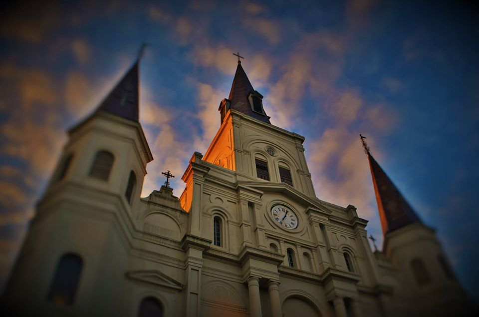 St Louis Cathedral in Jackson Square of the French Quarter of New Orleans