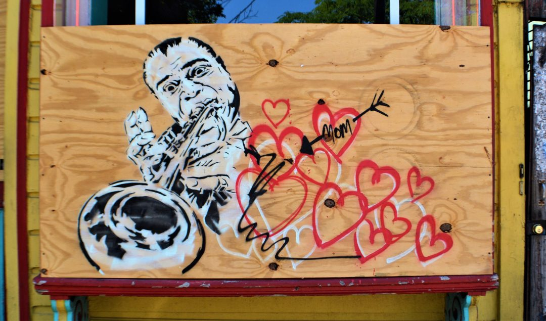 Streetart of Louis Armstrong On Frenchmens Street