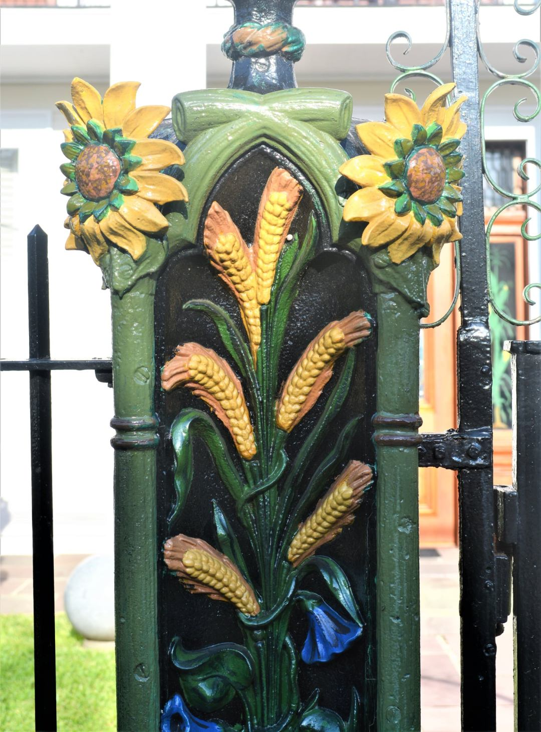 Fence post from a cornstalk fence in midcity of New Orleans
