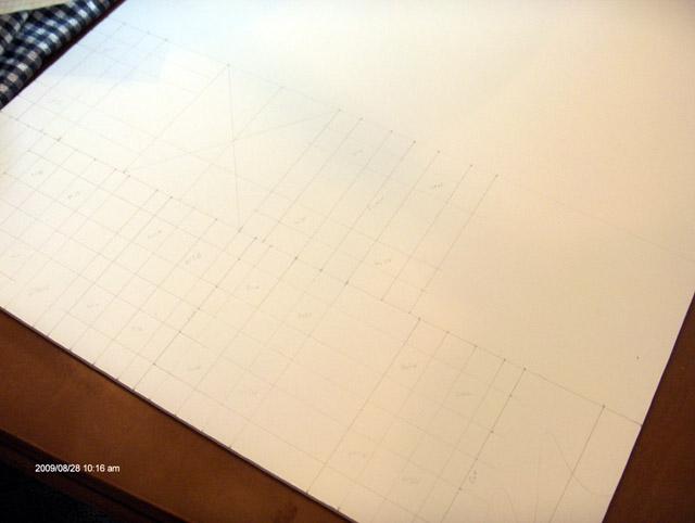 Walls drawn onto foamcore