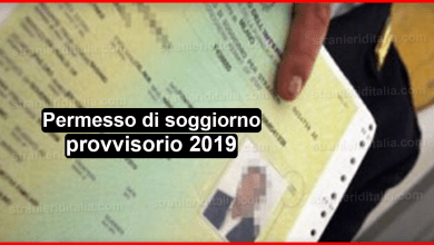 Photo of Permesso di soggiorno provvisorio 2019