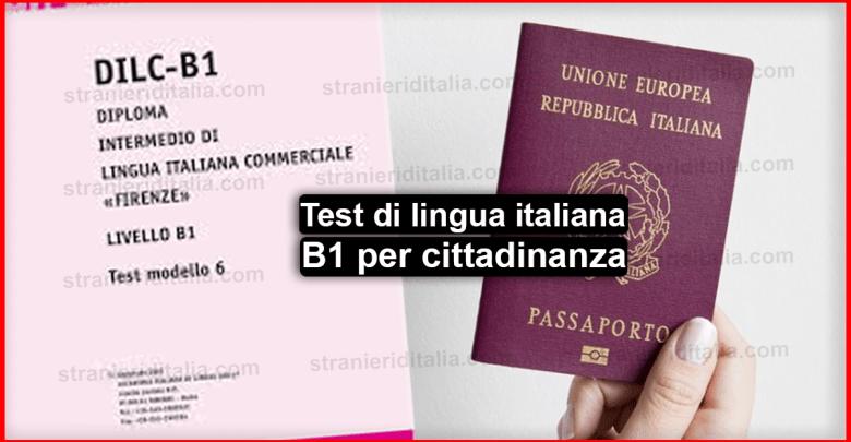 Test di lingua italiana B1 per cittadinanza