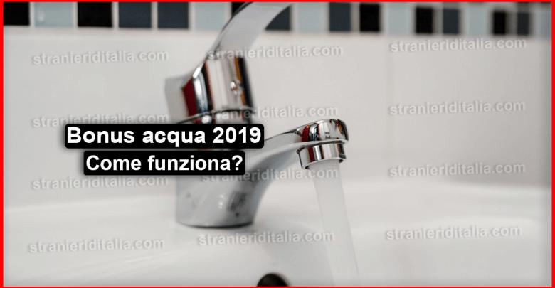 Bonus acqua 2019 : cos'è? come fare la domanda e requisiti