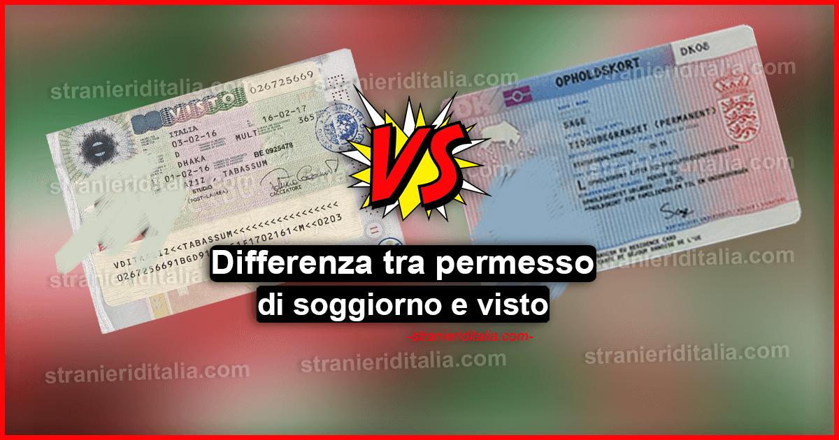 Differenza tra permesso di soggiorno e visto in Italia
