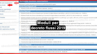 Photo of Moduli per decreto flussi 2019