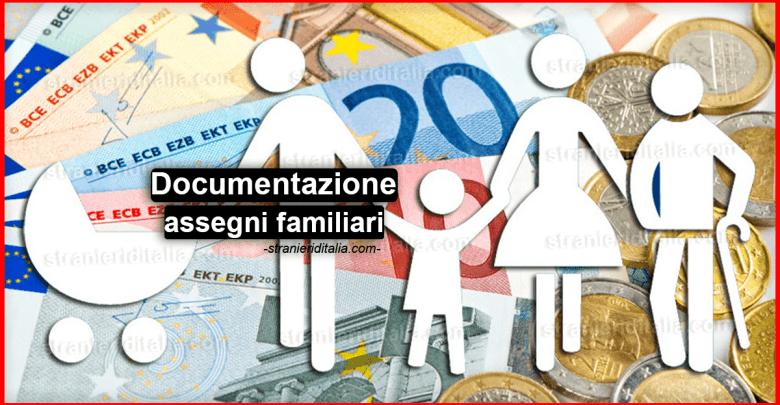 Documentazione assegni familiari dipendenti di aziende private