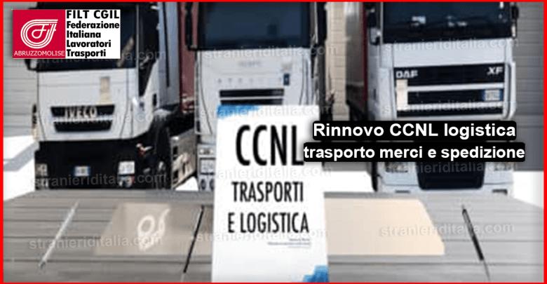 Rinnovo CCNL logistica trasporto merci e spedizione 2019