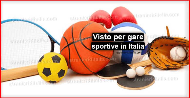 Visto per gare sportive in Italia