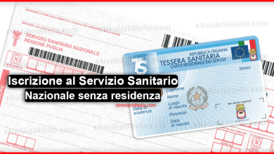 Iscrizione al Servizio Sanitario Nazionale anche in assenza di residenza.