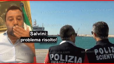 Photo of Salvini: problema risolto! autorizzerò lo sbarco dei migranti sulla Gregoretti