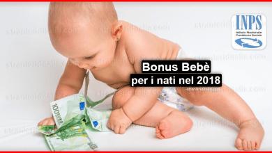 Photo of Assegno di natalità (Bonus Bebè) per i nati nel 2018