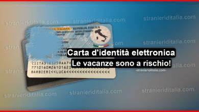 Carta d'identità elettronica: Molte vacanze sono a rischio!