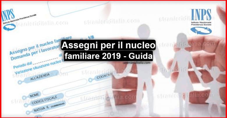 Assegni per il nucleo familiare 2019 - Guida completa