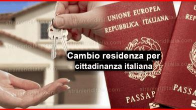 Photo of Comunicazione cambio residenza per cittadinanza italiana