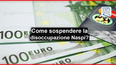 Photo of Sospendere la disoccupazione Naspi Inps: Come e in quali sono i casi?