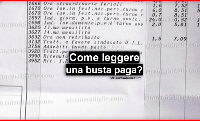Come leggere una busta paga? ecco tutte le istruzioni che devi sapere