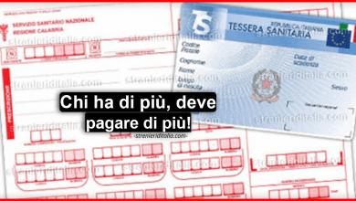 Photo of Il ticket sanitario, si cambia: chi ha di più, deve pagare di più!