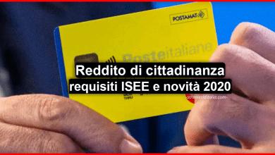 Photo of Reddito di cittadinanza 2020: requisiti ISEE, a chi spetta, domanda