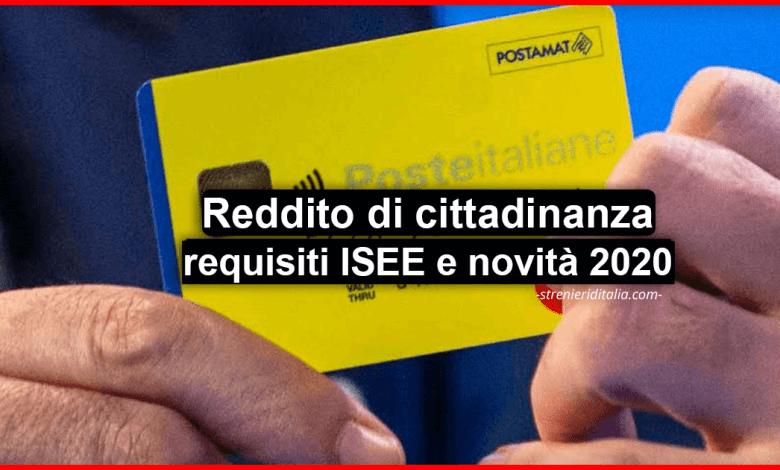 Reddito di cittadinanza 2020: requisiti ISEE, a chi spetta, domanda