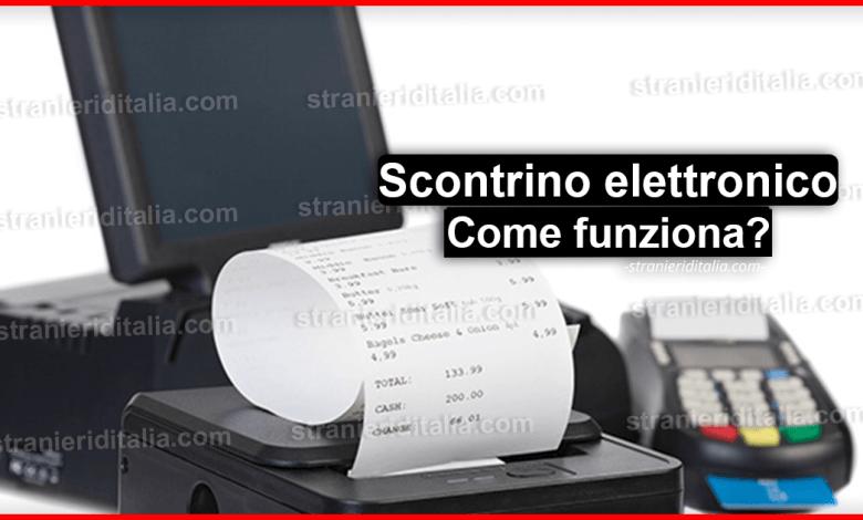 Scontrino elettronico (come funziona) | Stranieri d'Italia