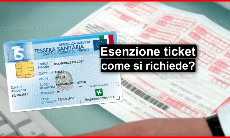 Esenzione ticket 2020 (cos'è e come si richiede) | Stranieri d'Italia (done)