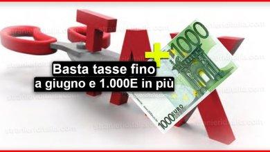 Photo of Basta tasse fino a giugno e 1.000 euro in più al mese!