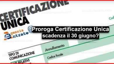 Photo of Coronavirus: Proroga Certificazione Unica 2020 al 30 giugno!
