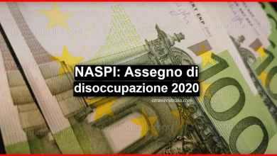 Photo of NASpI: assegno di disoccupazione 2020 NOVITÀ