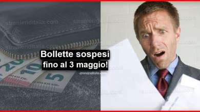Photo of Bollette luce, acqua e gas: Sospesi fino al 3 maggio!