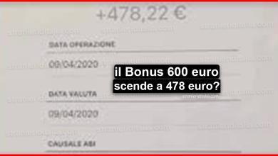 Photo of Bonus 600 euro scende a 478 euro netti: attenzione alla bufala sociale!