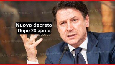 Photo of Nuovo decreto dopo 20 aprile: Ecco le ipotesi | Stranieri d'Italia